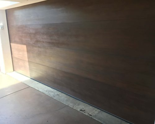 Wood-Staining-Garage-Door