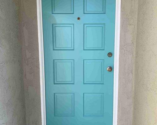 blue-door-painting